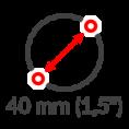 1,5 Zoll Durchmesser
